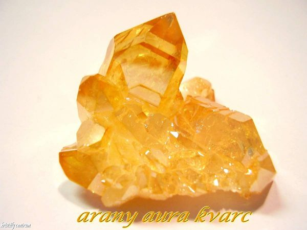 Golden aura quartz