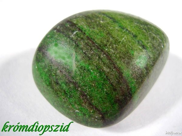 Chromian Diopside tumbled stone
