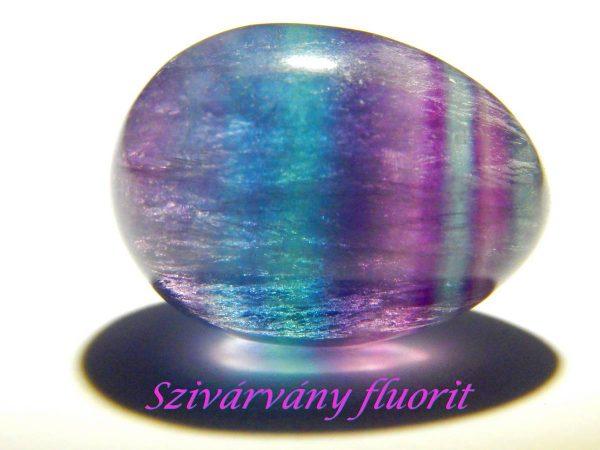 Rainbow fluorite egg