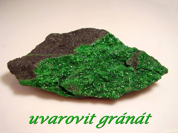 Uvarovite garnet- Saranovskii Mine, Middle Urals, Russia