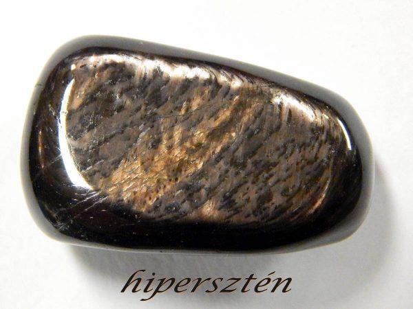 Hypersthene tumbled stone - Canada