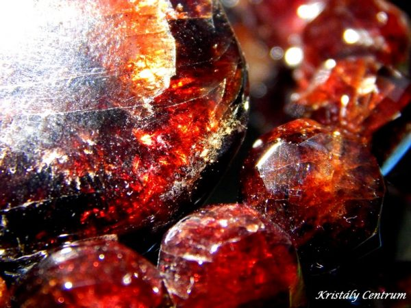 Polished almandine garnets