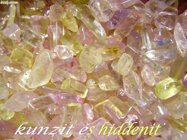 Kunzite spodumene tumbled stones