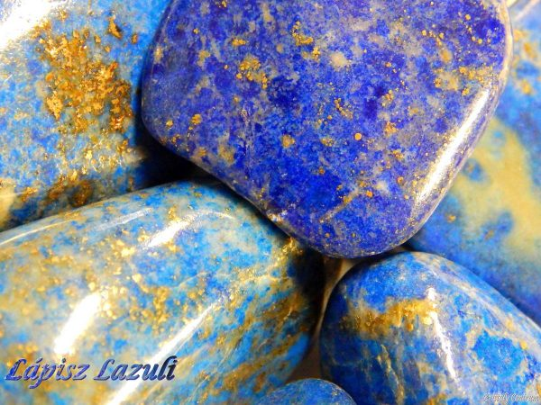 Lapis lazuli tumbled stones - Afghanistan