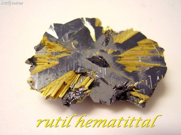 Rutile with hematite - Novo Horizonte, Bahia, Brazil,
